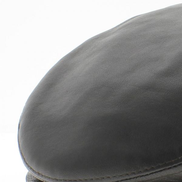 Casquette cuir plate