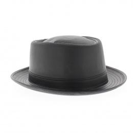 chapeau Pork Pie cuir