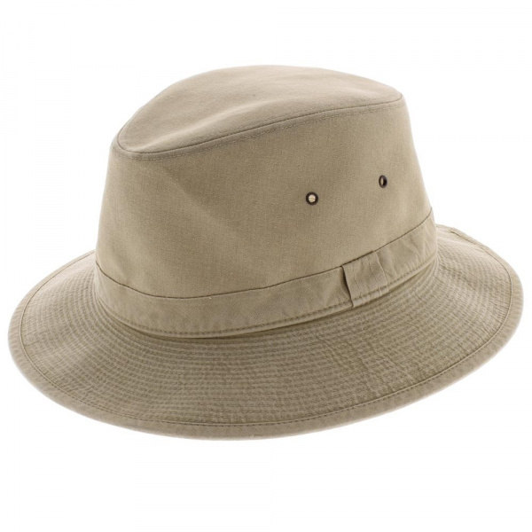 Tanzania safari hat beige cotton - Crambes
