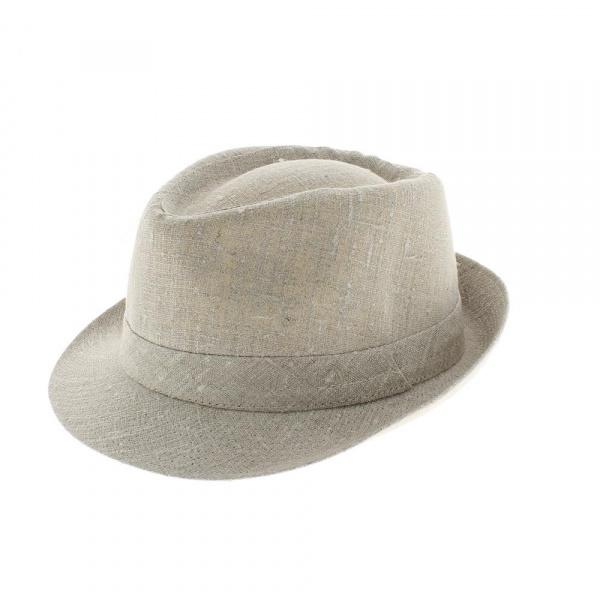 Chapeau trilby lin