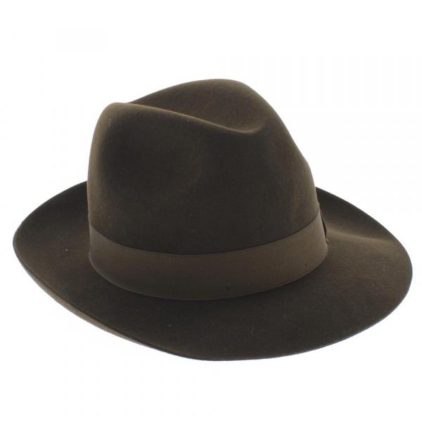 chapeau Borsalino Marron en feutre poil