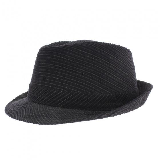 Chapeau trilby velours noir