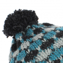Bonnet ludvic à Pompon turquoise