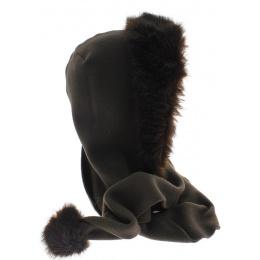Polar fabric hood