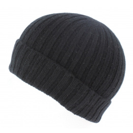 Bonnet cachemire noir