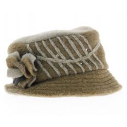 Chapeau Marilyne laine bouillie beige