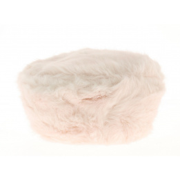 Toque fourrure courchevel enfant rose