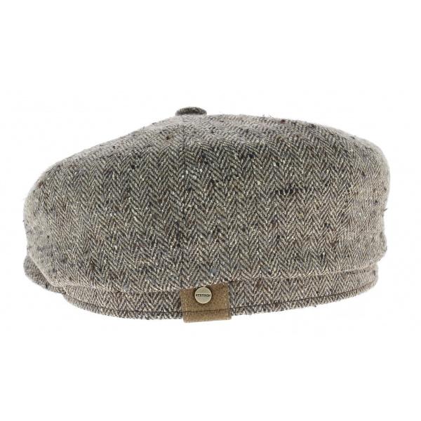 Casquette hatteras été soie Stetson taupe