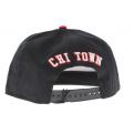 Snap cap Cayler & SONS Windy City noir - rouge - blanc