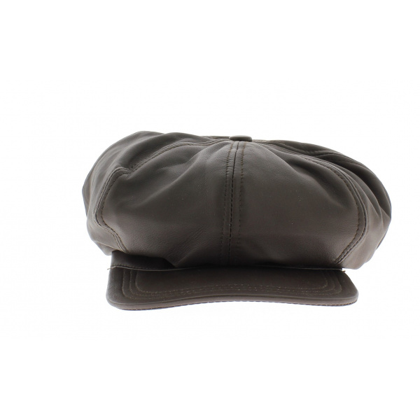 Casquette cuir montagny