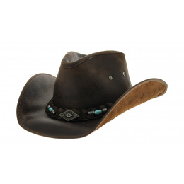 Bullhide leather rodeo hat