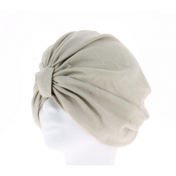 Turban chimiotherapie taupe claire