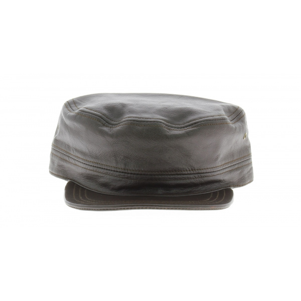 Casquette cubaine cuir - Booster Marron foncé