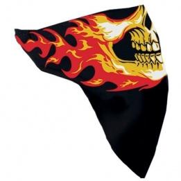 cache-cou noir tête flamme