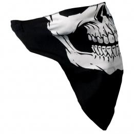 cache-cou noir tête de mort