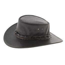 Chapeau Eureka en cuir de buffle