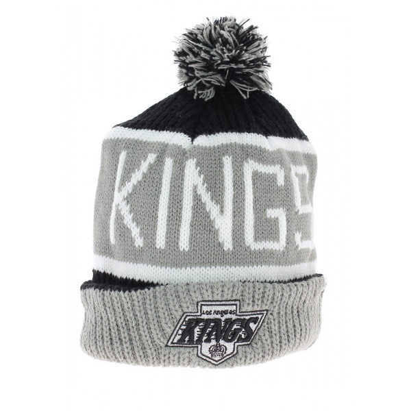 Long hat with vintage Los Angeles kings pompom