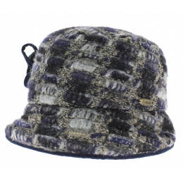 Cloche Hat 20's Wool Blue - Traclet