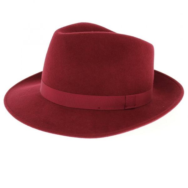 Chapeau Fedora Feutre Laine caroube - Traclet