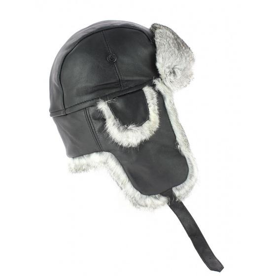 Chapka Harbor Leather & Fur Black