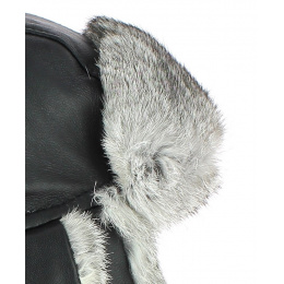 Chapka Harbor Leather & Fur Black