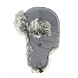 ushanka  FAUX FUR GRAY