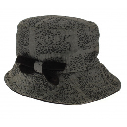 Chapeau Cloche Tissu Marron- Traclet