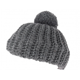 Beret tricot anthracite