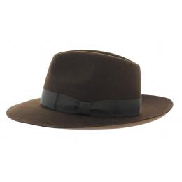 Chapeau Bogarte feutre poil marron