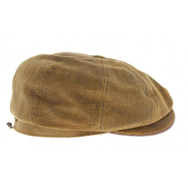 Casquette hatteras Burney cuir - Stetson
