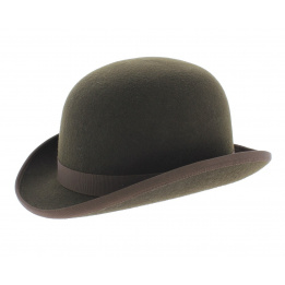 Bowler hat - Brown Wool felt