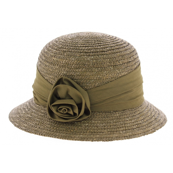 Chapeau cloche paille hemp marron