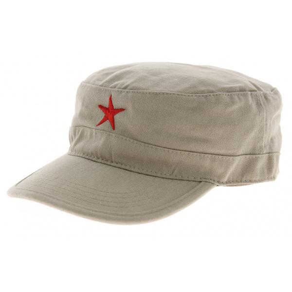 Vente acheter bien design de qualité Casquette cubaine Che - beige