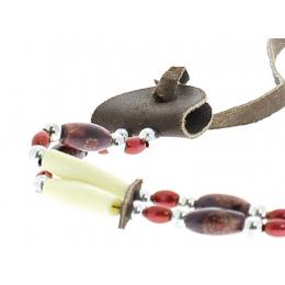 Hatband - Garniture a chapeau perles rouges