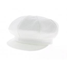 Casquette gavroche - Lin blanc