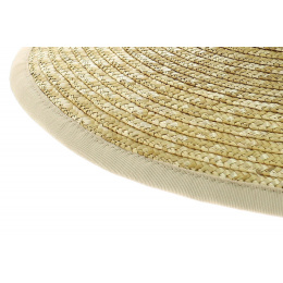 Capeline  Gray Yveline  in straw  Natural