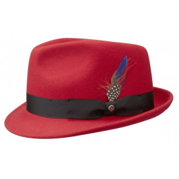 Chapeau Trilby richmond rouge Stetson