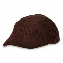 Casquette velours marron
