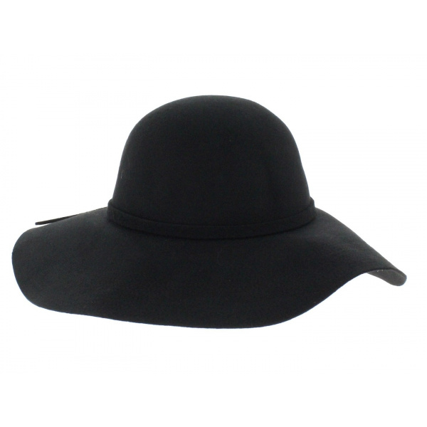 Black felt hat - Traclet
