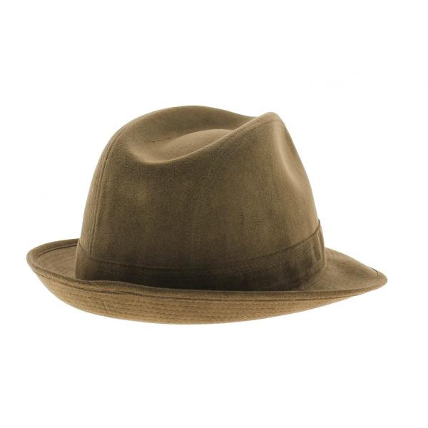 Chapeau trilby - Alcantara noisette