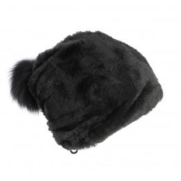 Bonnet fourrure noire - Gena