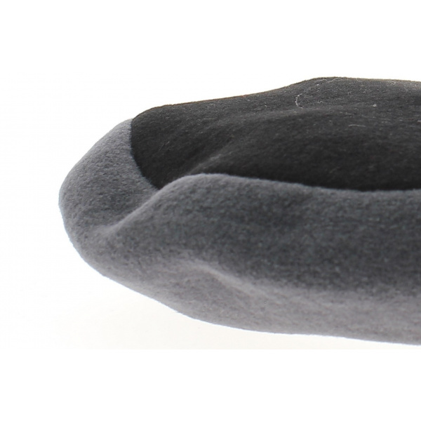Beret amboise noir et gris