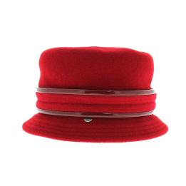 Chapeau cloche Jonie rouge