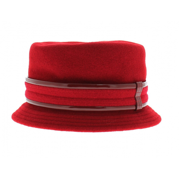Chapeau Cloche Jonie Rouge- Héritage par Laulhère