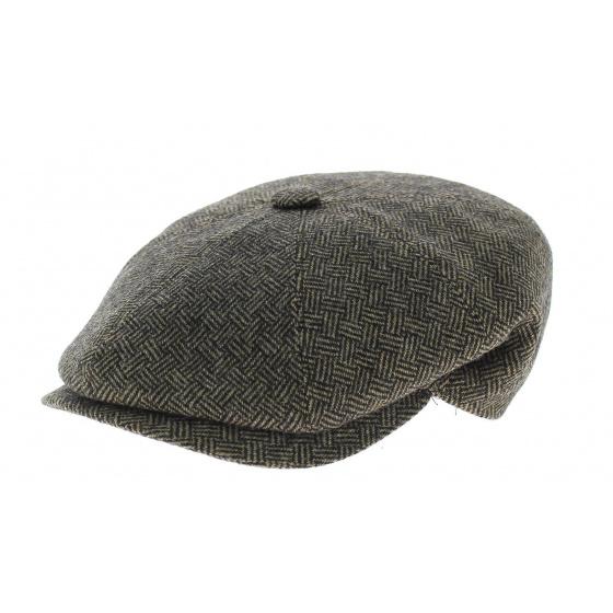 Arnold cap black/brown herringbone