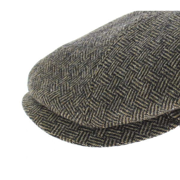 Arnold cap black/ herringbone brown