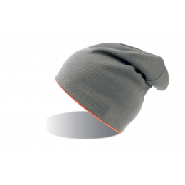 Bonnet Extreme gris reversible orange fluo