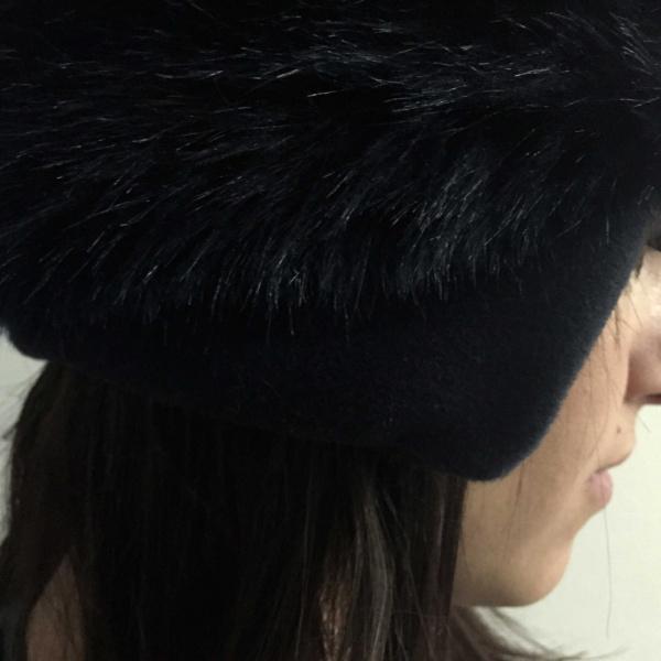 Toque Femme Chamonix Fourrure - Noir