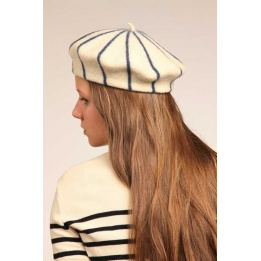 Grey Stripes French Beret- Le Béret Français