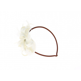 Serre-tête Marine - Garniture blanche pour cheveux